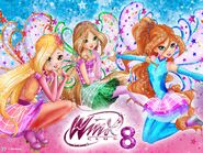 Winx Club 8 - Bloom, Stella, and Flora New Transformation 2