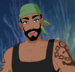 Pirate with green cap-icon