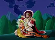 Radius embracing his daughter
