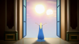 Luna summoning the Second Sun of Solaria's light