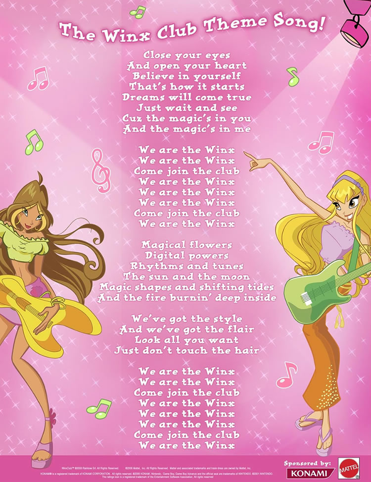 Lyric lyrics to all i need is a touch from you : We Are the Winx | Winx Club Wiki | FANDOM powered by Wikia