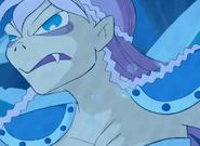 Celina turned in mer-monster