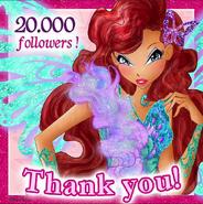 Winx Club - 20,000 followers April232016 (Instagram)