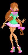 Winx flora retro alfea casual by enchantingunixfairy-d8n3438