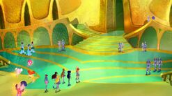 O auditório de ouro