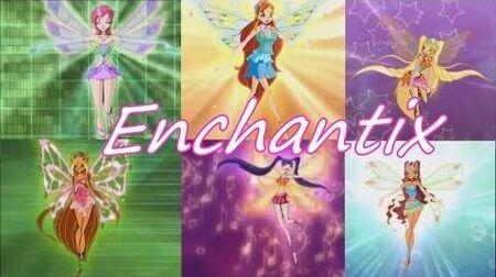 Winx Club~ Enchantix -Italian- (Lyrics)