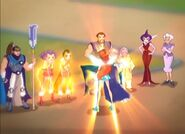 Saladin, Codatorta, Trix, Griffin, Faragonda, Bloom - Battle for Magix (1)