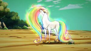 Rainbow creature's real form