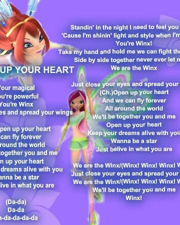 winx club songs in english free download