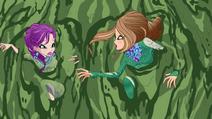 Tecna und Flora im Zaubersumpf 01