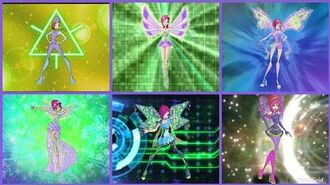 Winx Club - Tecna all full transformations up to Cosmix! (Unofficial!) HD.