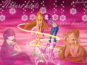 Flora and Roxy Winx wallpaper by GraceQute