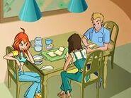 Блум с родителями