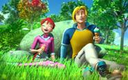 Блум и Скай около камня