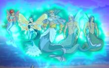 Подводная королевская семья Андроса 5х1