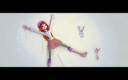 Блум в снегу