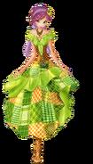 Текна в лоскутном платье