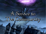 A Service to The Community