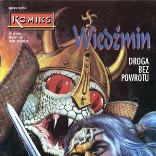Vran i Korin na okładce komiksu <i>Droga bez powrotu</i>.