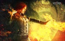 Tw2 art Triss casting spells