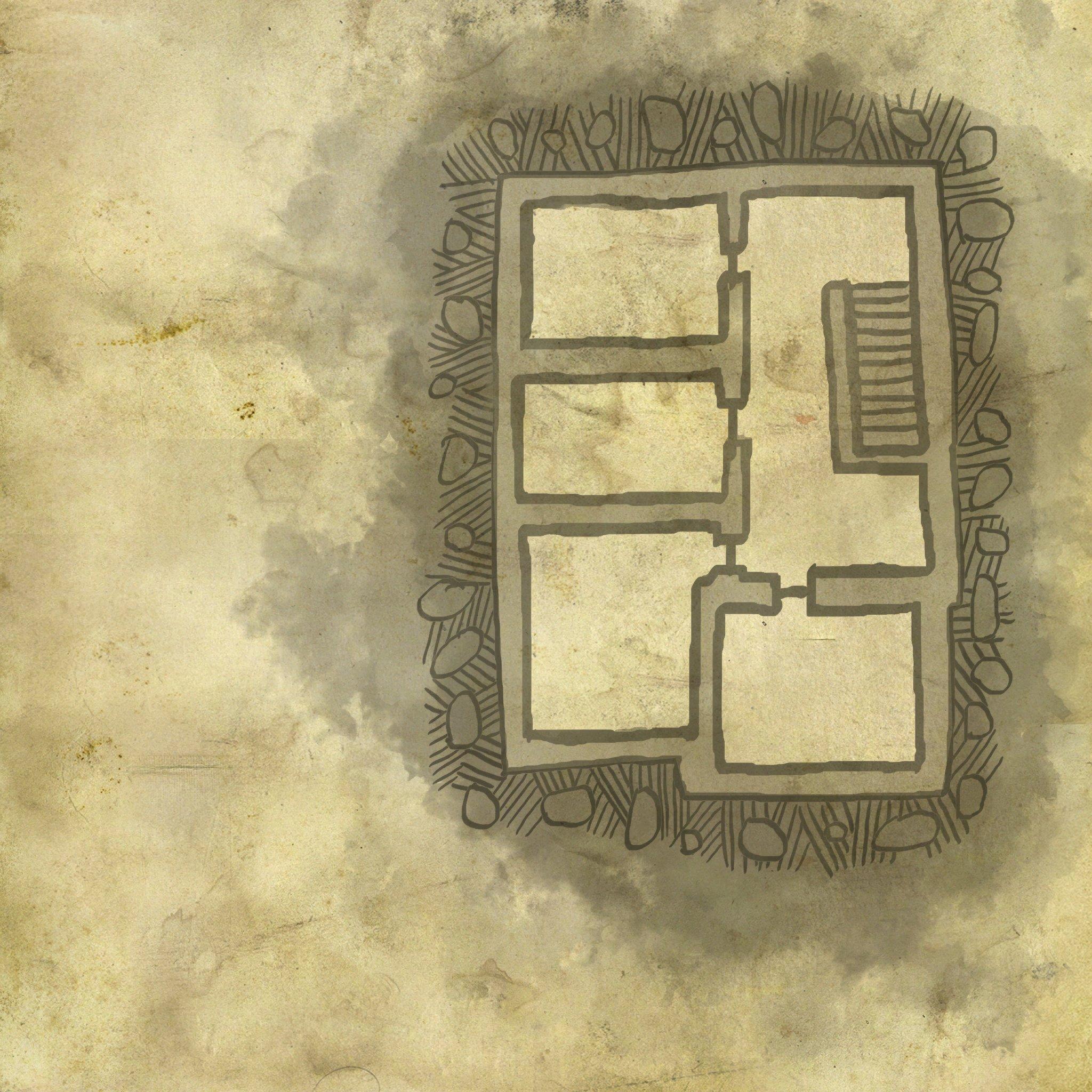 Carte de l'étage supérieur