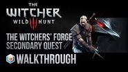 The Witcher 3 Wild Hunt Walkthrough The Witchers' Forge Secondary Quest Guide Gameplay Let's Play
