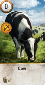 Tw3 gwent card face Cow