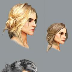 Цірілла, концепт-арт зачісок