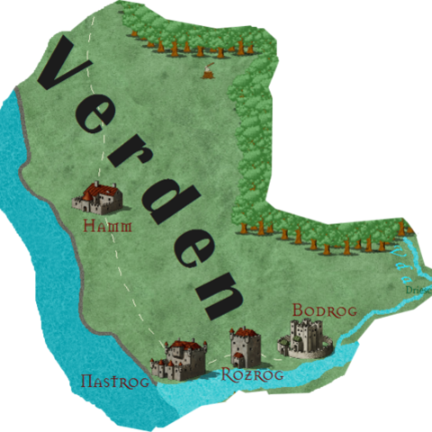 Можлива карта Вердена (варіант за мотивами книг)