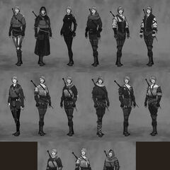 Concept art for Ciri's armour in <i>The Witcher 3</i>