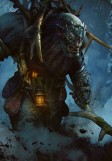 Gwent cardart monsters bridge troll