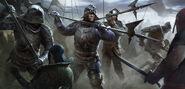 Gwent cardart northern temerian infantry