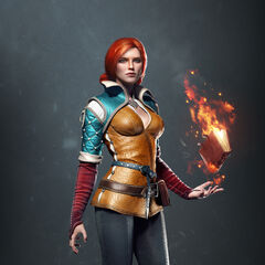Render of Triss for <i>The Witcher 3</i>