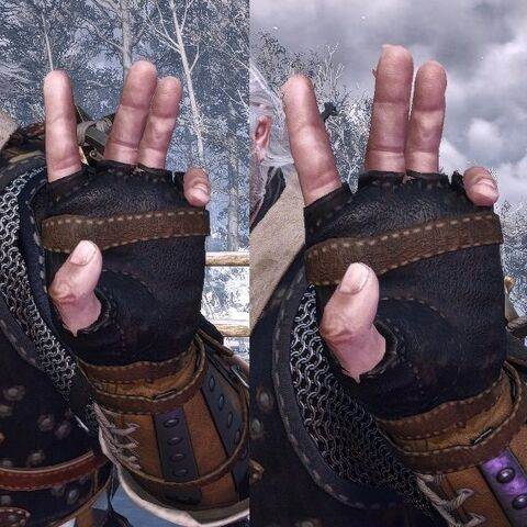 Quen's casting gesture in <i>The Witcher 3</i>