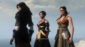 Tw3 cutscene sorceresses