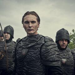 Leather-covered Nilfgaardian troops