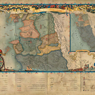 خريطة مفصلة للممالك الشمالية