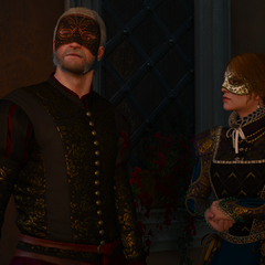 Geralt and Anna Henrietta are ready for the soiree.