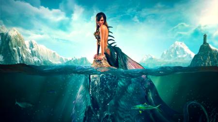 The Witcher 3, Wild Hunt, Siren concept art, spliced