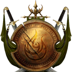 The symbol of Korath in the MOBA <i>The Witcher Battle Arena</i>.