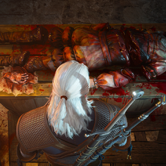 Geralt doing autopsy