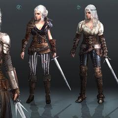 Цірілла, концепт-арт вбрання