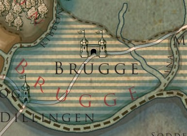 Brugge Colored Map