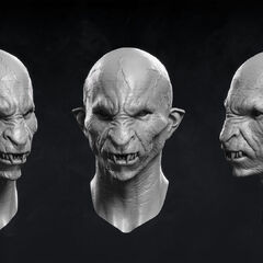 Digital model of monster face