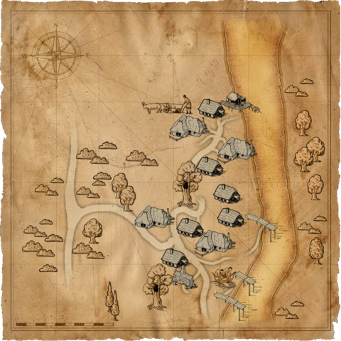 Map of Murky Waters village