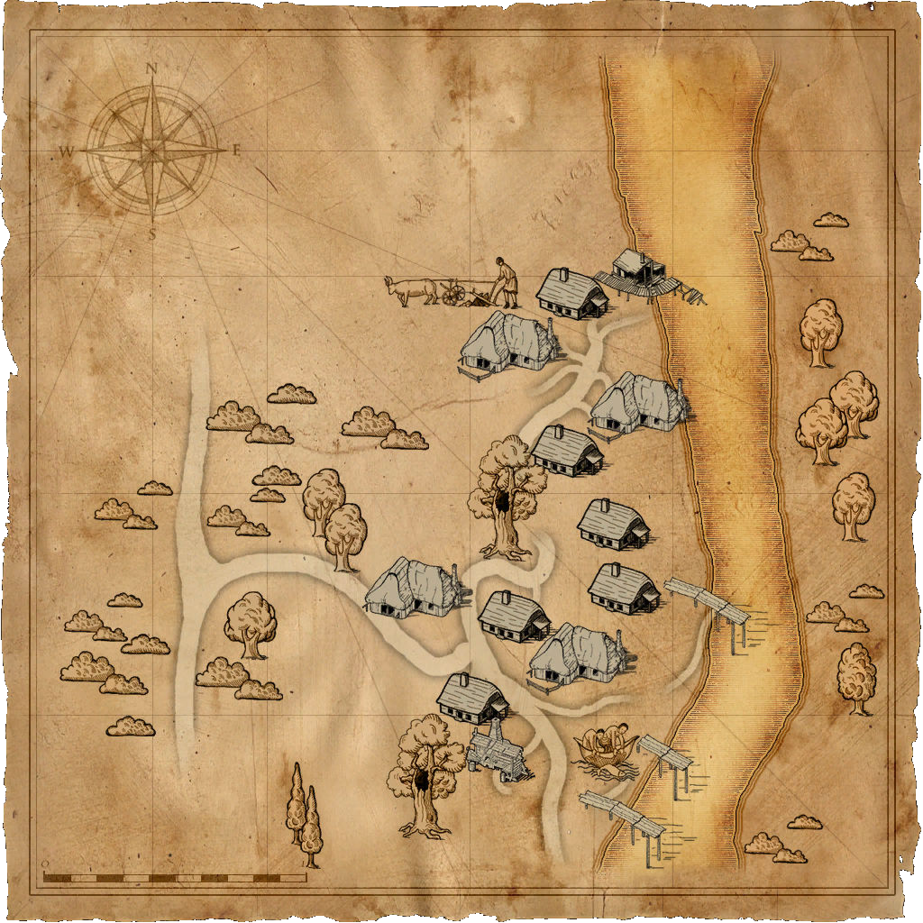 Map Murky Waters village