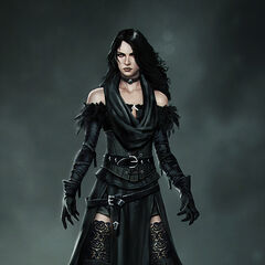 Concept art in her alternative outfit DLC for <i>The Witcher 3</i>