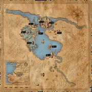 Map Vizima major locations