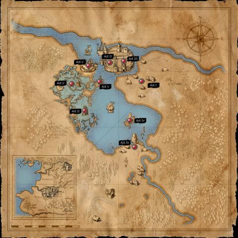 Мапа території навколо Визімського озера