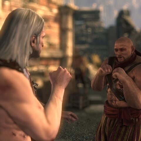 Fistfighting with Geralt